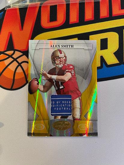 2008 Leaf Certified Alex Smith Prime Jersey Reebok Patch Tag #'d 4/25 49ers