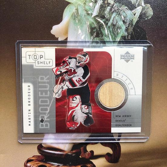 2001-02 Upper Deck Top Shelf Game-Used Sticks Martin Brodeur #S-MB HOF Relic