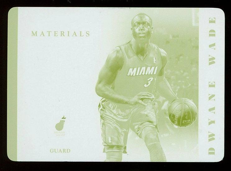 2013 Panini NATIONAL TREASURES NBA MATERIALS YELLOW PRINT PLATE 1/1 Dwyane Wade