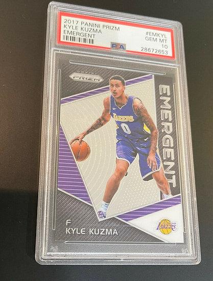 2017-18 Panini Prizm Emergent Kyle Kuzma Lakers RC Rookie PSA 10 GEM MINT Lakers