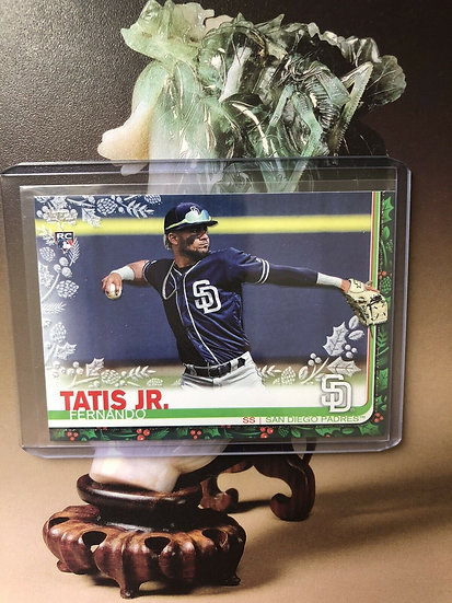 2019 Topps Holiday Fernando Tatis Jr. Metallic Sparkle RC #HW126 Padres MVP