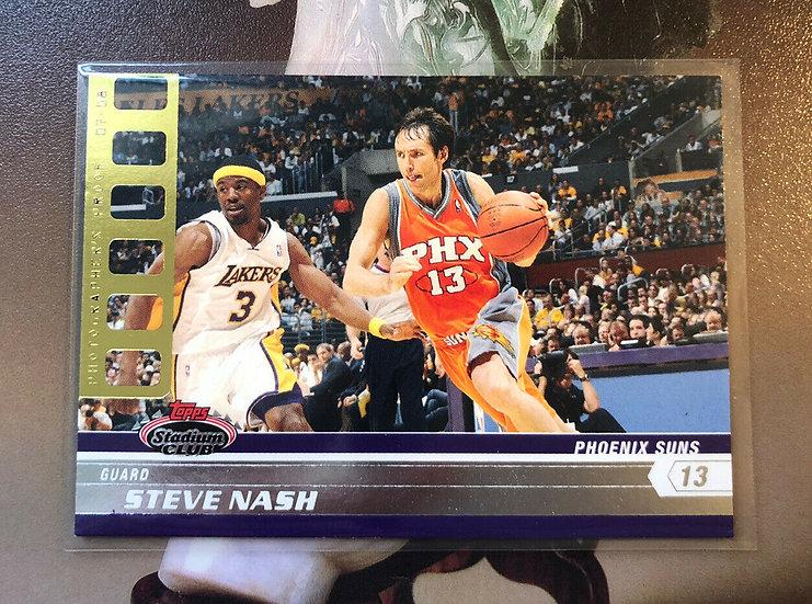 2007-08 TOPPS STADIUM CLUB Steve Nash PHOTOGRAPHERS PROOF GOLD #d/50 SP Rare!