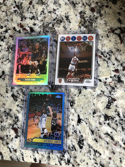 3x Topps Chrome Refractor Lot: Patrick Ewing Rare Cards NY Knicks HOF 2000 2002