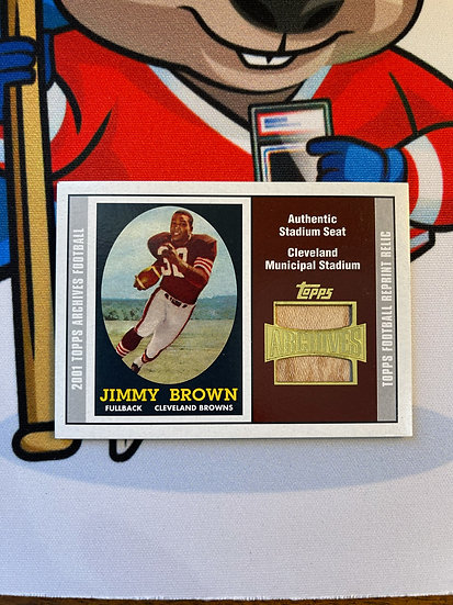 2001 Topps Archives Jim Brown Authentic Stadium Seat Cleveland Municipal Browns