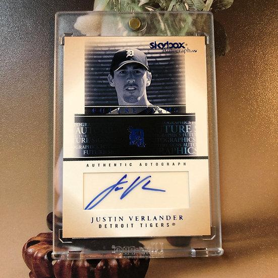 2005 Skybox JUSTIN VERLANDER Autograph-ics RC Auto Houston Astros ROOKIE CARD