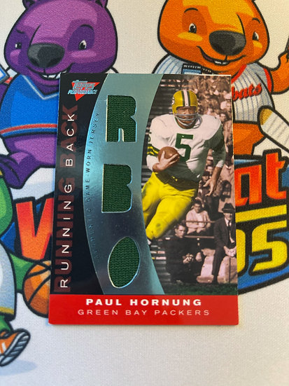 2007 Topps Performance Paul Hornung Game Worn Triple Jersey #d/60 Packers