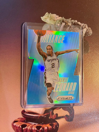 2013-14 Panini Prizm Kawhi Leonard Brilliance Die Cut Light Blue Prizms 51/199