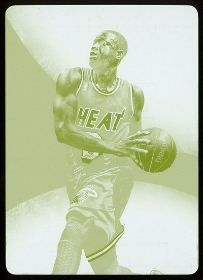 2013-14 Panini Immaculate Collection #18 ~ YELLOW PRINT PLATE 1/1 ~ Dwyane Wade