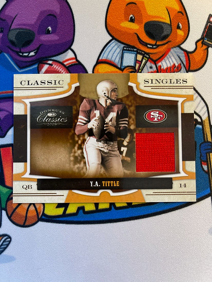 2009 Donruss Classics Y.A. Tittle Game Worn Jersey #d/42 49ers Classic Singles