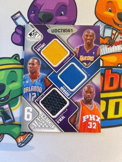 2009-10 SP Game Used 6 Star Swatches Michael Jordan Kobe Bryant Shaq Jersey +