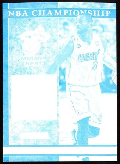 2012-13 Panini Black Friday ~ NBA CHAMPIONSHIP CYAN PROOF SP /5 ~ Dwyane Wade