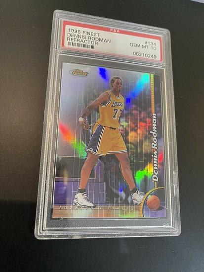 Dennis Rodman 1998 Topps Finest Refractor #134 Gem Mint PSA 10 Lakers Bulls HOF
