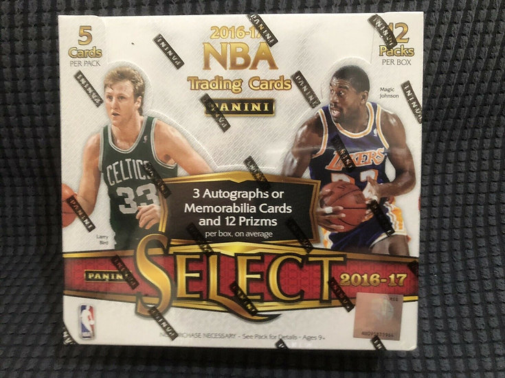 2016-17 PANINI SELECT NBA BASKETBALL FACTORY SEALED UNOPENED HOBBY BOX 🔥🔥🔥