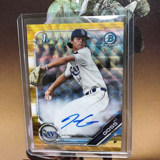 2019 Bowman Draft Chrome JJ Goss Gold Wave Refractor Rookie Autograph Auto /50