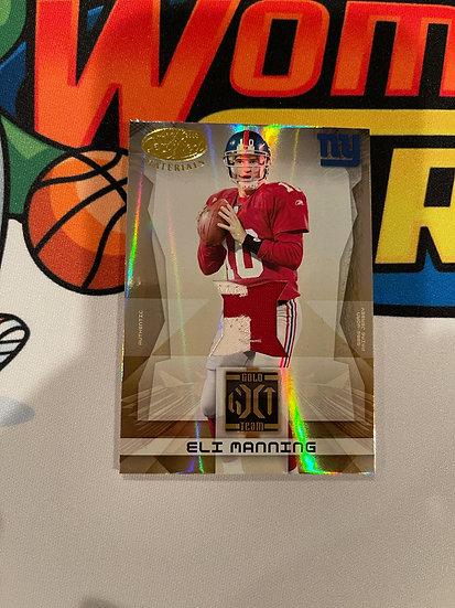2008 Leaf Certfied Eli Manning 2 Color Patch #d 11/25 NY Giants Gold Team