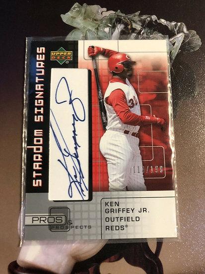 2005 UD Pros & Prospects Ken Griffey Jr Stardom Signatures Auto #d/198 Autograph