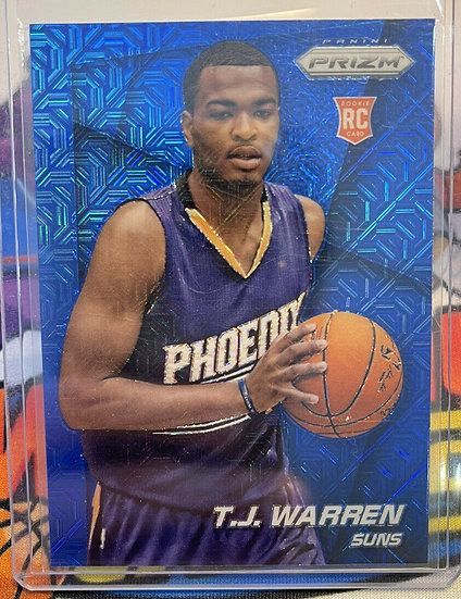 2014-15 Panini Prizm T.J. TJ Warren Blue Mojo RC Rookie Card #263 Indiana Pacers