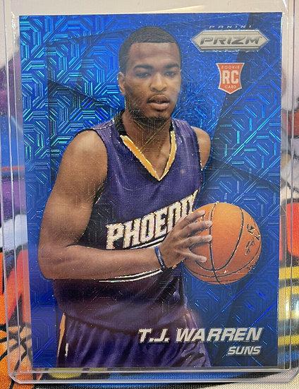 2014-15 Panini Prizm T.J. TJ Warren Blue Mojo RC Rookie Card #263 Indiana Pacers