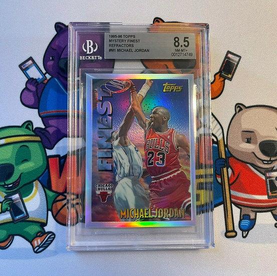 1995-96 Topps Mystery Finest Refractors #M1 Michael Jordan BGS 8.5 Bulls HOF