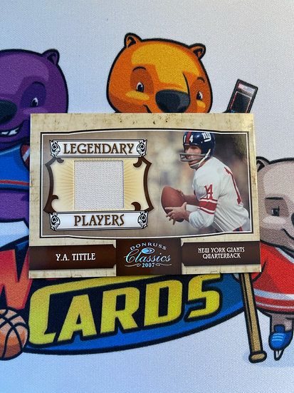 2007 Donruss Classics YA Y.A. Tittle Game Worn Jersey 5/250 Legendary Players NY