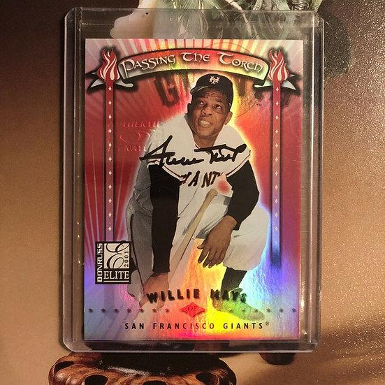 "2001 Donruss Elite Willie Mays ""Passing The Torch"" Autograph #d/100 Auto Rare!!!"