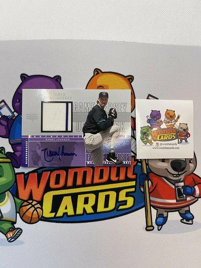 2000 UD Upper Deck RANDY JOHNSON GAME-USED JERSEY AUTOGRAPH Auto HOF Dbacks