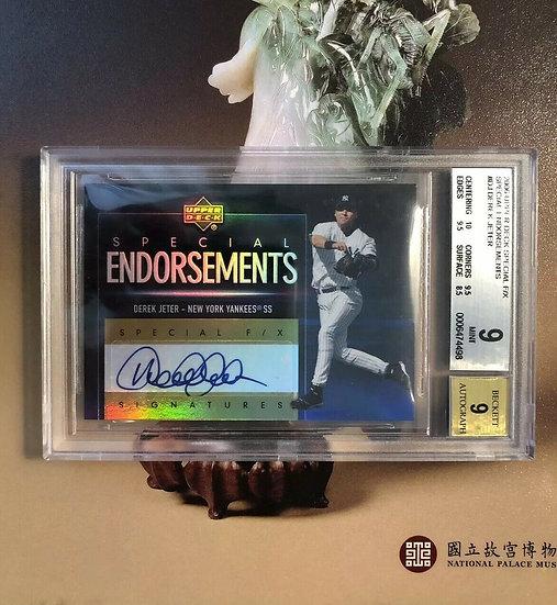 2006 UD Derek Jeter Special F/X Endorsements Auto BGS 9 MINT Yankees Autograph