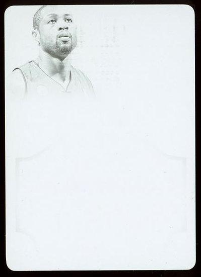 2012-13 Panini FLAWLESS #36 ~ BLACK PRINTING PLATE 1/1 ~ Dwyane Wade