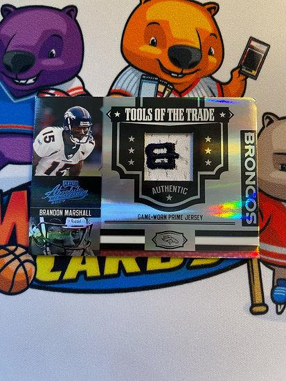 2008 Absolute Memorabilia Brandon Marshall Broncos Logo Patch 8/40 Tools Trade