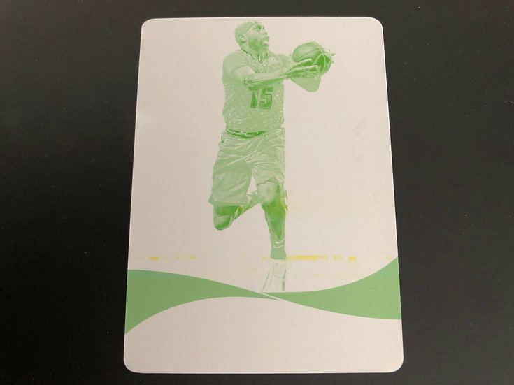 2018-19 Immaculate Vince Carter - True 1 of 1 - Yellow PRINTING PLATE 1/1 HOF