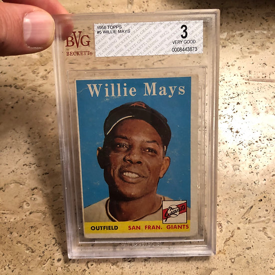 1958 Topps Willie Mays #5 BVG 3 Very Good Iconic Card HOF SF/NY Giants PSA BGS