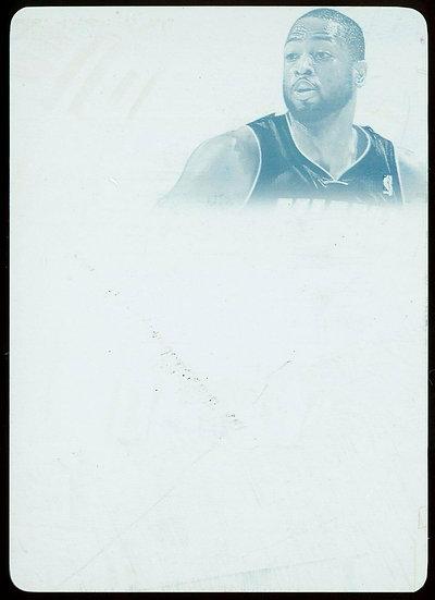 2013-14 Panini FLAWLESS #17 ~ PATCH AUTOS CYAN PRINTING PLATE 1/1 ~ Dwyane Wade