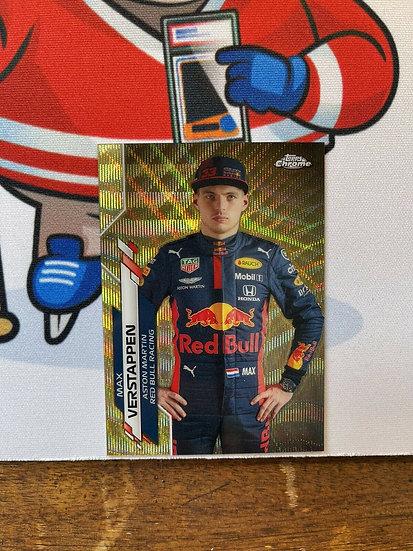 2020 Topps Chrome Formula 1 F1 Gold Wave #6 Max Verstappen #19/50