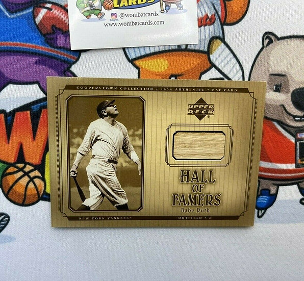 2001 UD UPPER DECK HOF COOPERSTOWN COLLECTION BABE RUTH GAME-USED BAT NY YANKEES