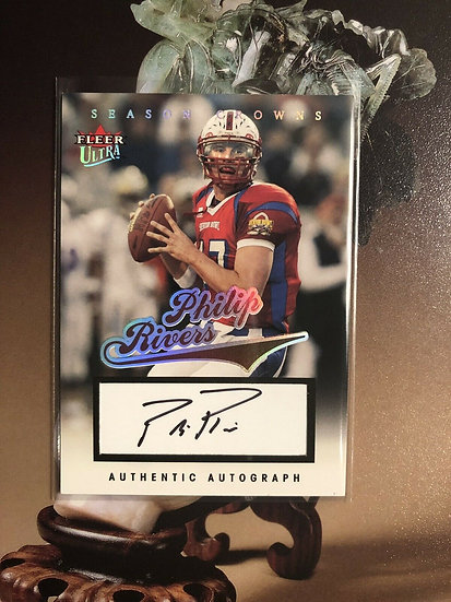 2004 Fleer Ultra Philip Rivers Autograph RC #d/150 Auto Chargers Rookie Card