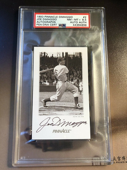 1993 Pinnacle Joe DiMaggio Autograph PSA 8.5 PSA/DNA Authentic Auto HOF Yankees