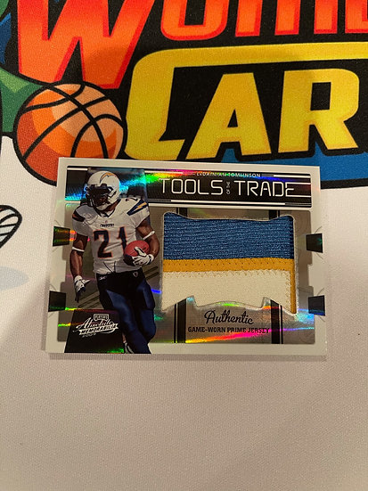 2009 Playoff Absolute Tools of the Trade LaDainian Tomlinson 3 Color Patch #d/15