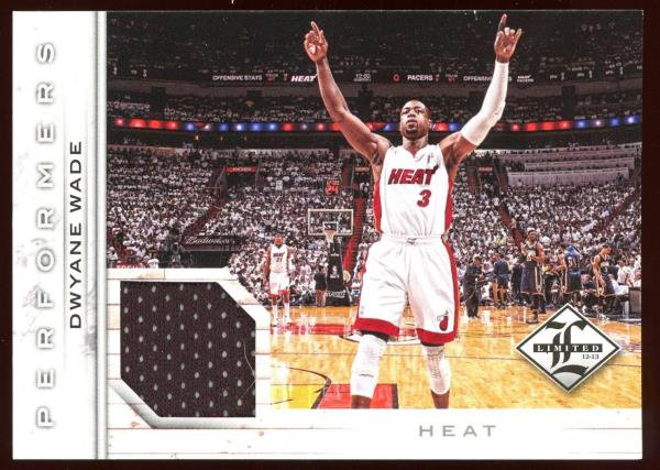 2012-13 Panini Limited ~ PERFORMERS JERSEY 010/199 ~ Dwyane Wade