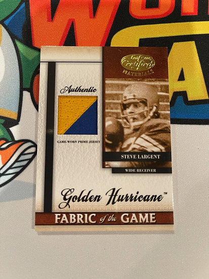 2008 Leaf Certified Steve Largent Fabric of the Game 2 Color Patch #'d 1/25