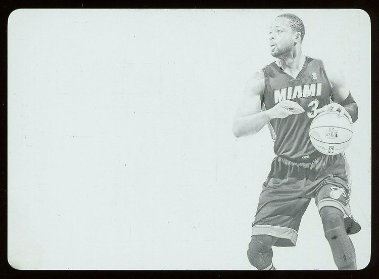 2013 Panini FLAWLESS #48 ~ FLAWLESS PATCHES BLACK PRINT PLATE 1/1 ~ Dwyane Wade