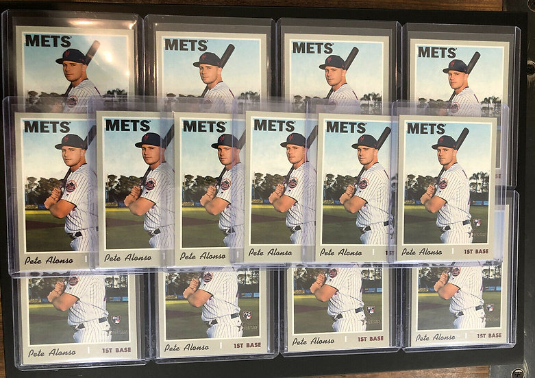 Lot Of (14x) 2019 Topps Heritage Pete Alonso RC NY METS #519 Rookie Card