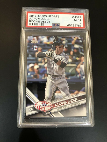 2017 TOPPS UPDATE #US99 AARON JUDGE RC PSA 9 MINT NY Yankees Rookie Card