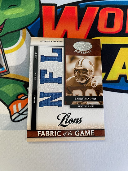 2008 Leaf Certified Materials Barry Sanders Fabrics of the Game 3x Jersey 40/50