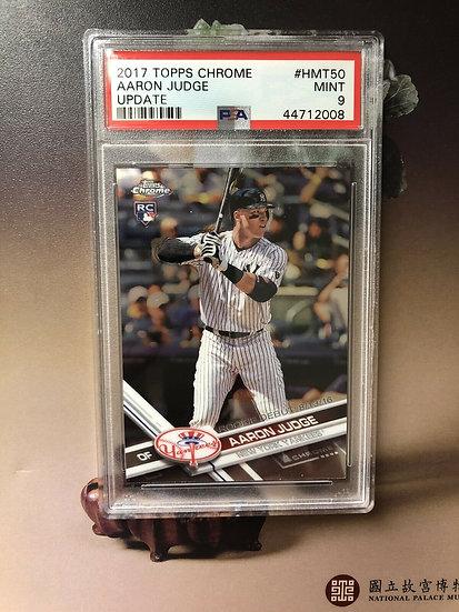 2017 Topps Chrome Update AARON JUDGE Yankees Rookie - Batting PSA 9 Mint #HMT50