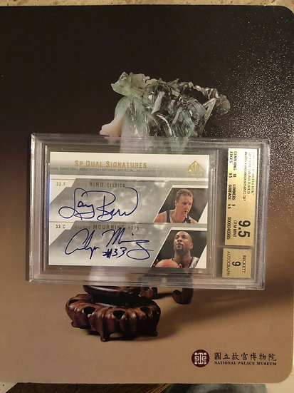 2003-04 SP DUAL Signature Larry Bird Alonzo Mourning Autograph BGS 9.5 AUTO 9