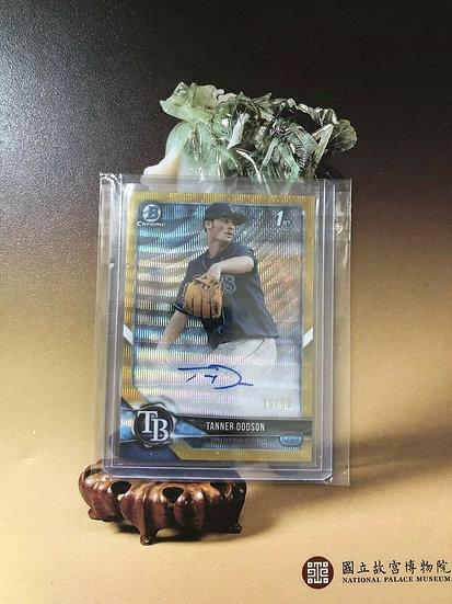 2018 Bowman Chrome Tanner Dodson AUTO RC Gold Ref #d/50 Autograph ROOKIE Rays