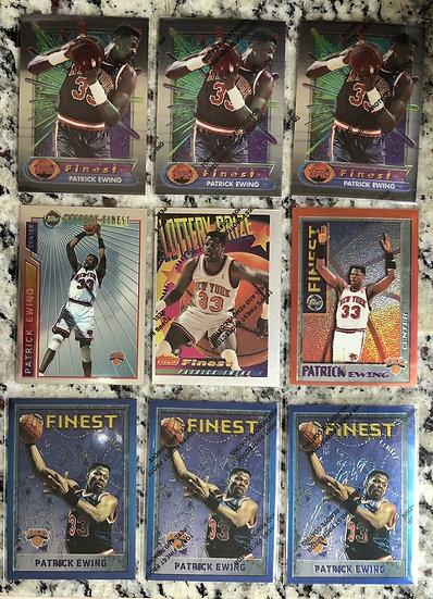 20x Topps Finest Lot: Patrick Ewing Rare Cards 1994-95 1996-97 +NY Knicks HOF