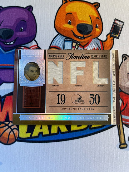 2006 National Treasures Otto Graham 3x Jersey /99 *