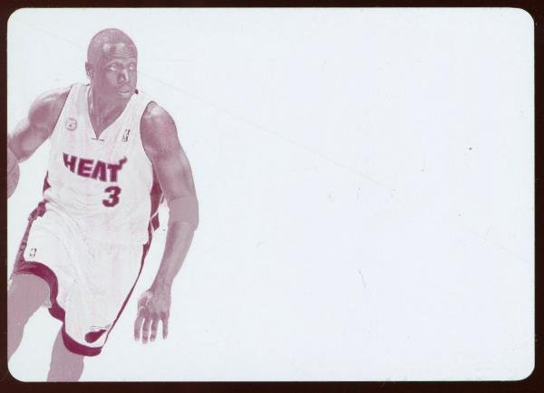 2012-13 Panini Immaculate PP-DY PRIME PATCH MAGENTA PRINT PLATE 1/1 Dwyane Wade