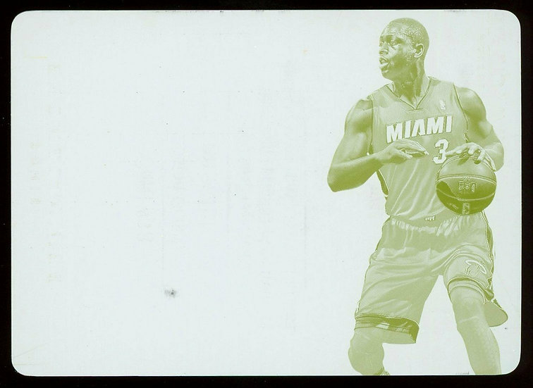 2013 Panini FLAWLESS #48 ~ FLAWLESS PATCHES YELLOW PRINT PLATE 1/1 ~ Dwyane Wade